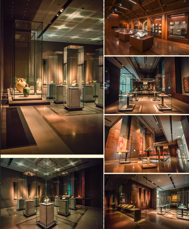 Case study of exhibition cabinet of Islamic Art Museum in Doha