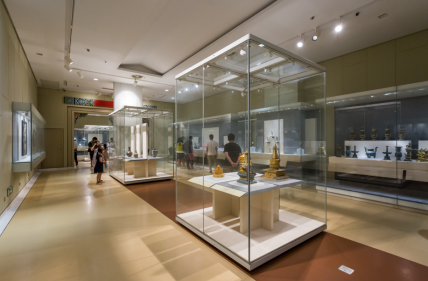 Nanjing Museum Of China  Demountable Showcase four display case fixed together
