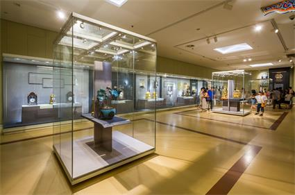 Nanjing museum of china Demountable modular Museum Freestanding glass display case style