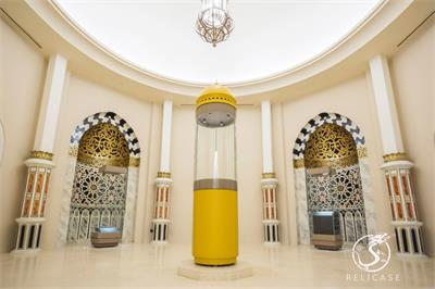 curved museum display cases-Royal Brunei Islamic Museum