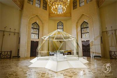faceted museum display case-Bolgar Historical and Archaeological Complex,Quran Museum
